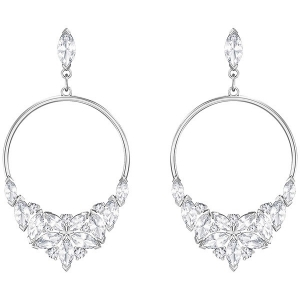 Swarovski: Lady Frontal Hoop Earrings