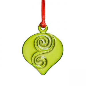 Orrefors: Holly Days Christmas Ornament