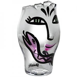Ulrica Hydman-Vallien: Open Minds Vase, Clear/Pink
