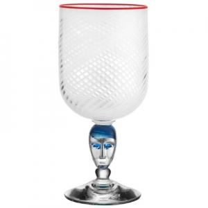 Bertil Vallien: Red Rim Brains Vase, White