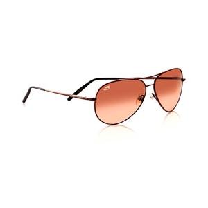 Serengeti: Medium Aviator Shiny Gunmetal Polarized Sunglasses