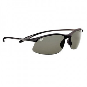 Serengeti: Maestrale Satin Black Polarized Sunglasses