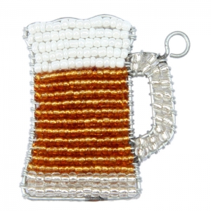 Beadworx: Beaded Beer Keychain