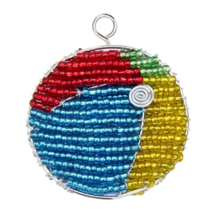 Beadworx: Beaded Beach Ball Keychain