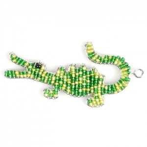 Beadworx: Beaded Gator Keychain