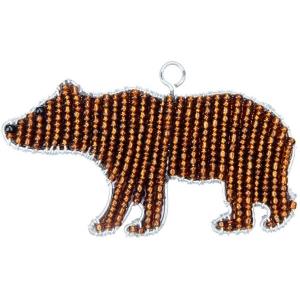 Beadworx: Beaded Grizzly Bear Keychain