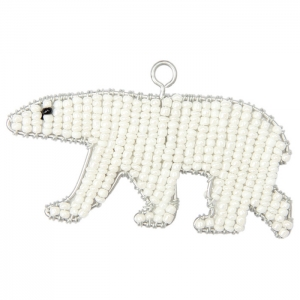 Beadworx: Beaded Polar Bear Keychain
