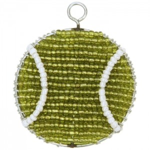 Beadworx: Beaded Tennis Ball Keychain