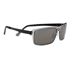 Serengeti: Duccio Polarized Sunglasses With Crystal Dark Gray Frames