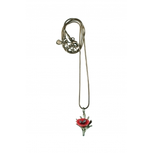 Michael Michaud: Red Poppy Chain Necklace