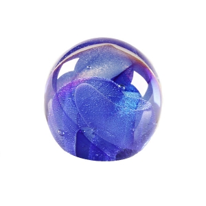 Ed Kachurik: Round Paperweight With Blue Veils