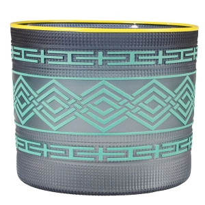 Preston Singletary: Tlingit Basket, Teal with Golfinch Lip Vessel
