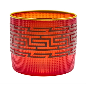 Preston Singletary: Tlingit Basket, Red With Marigold Lip