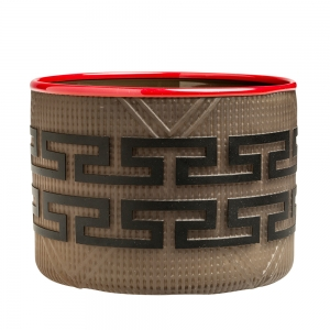 Preston Singletary: Tlingit Basket, Cedar Brown with Red Lip