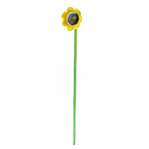 Long Stem Glass Sunflower
