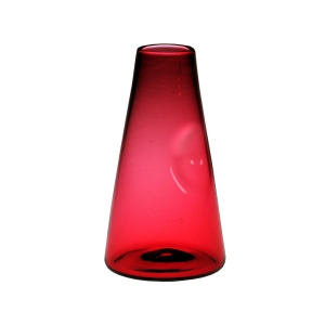 Chris Giordano: Cone Bud Vase, Ruby