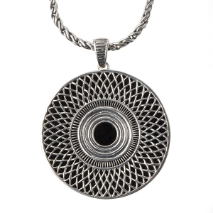 Cynthia Gale: Ennion Statement Jet Necklace