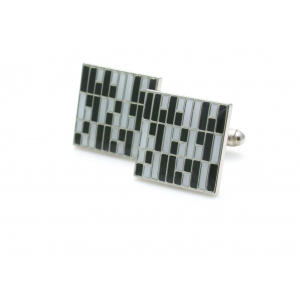 Kinzoku Custom: Roof Panel Inspired Cufflinks, Black