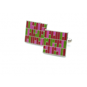 Kinzoku Custom: Roof Panel Inspired Cufflinks, Red
