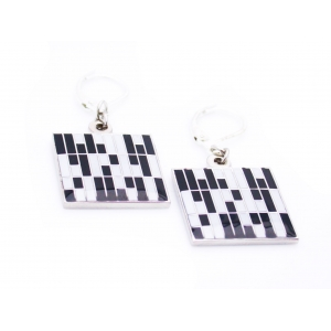 Kinzoku Custom: Roof Panel Inspired Earrings, Black