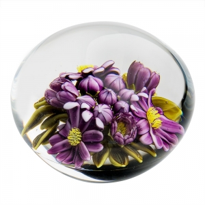 Clinton Smith: Purple Flowers Paperweight