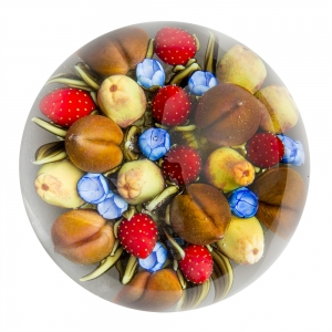 Clinton Smith: Strawberries, Peaches, & Apples Paperweight