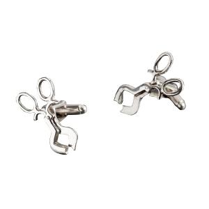 Diane Stendahl: Silver Diamond Shears Cufflinks