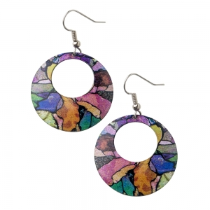 David Howell & Company: Tiffany Mosaic Panel Earrings for CMoG