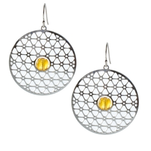 David Howell & Company: 200-Inch Disk Earrings, Amber