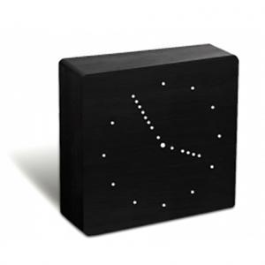 Gingko: Analog Click Clock, Black