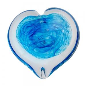 Helen Tegeler: Heart Paperweight, Aqua