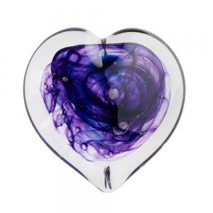 Helen Tegeler: Heart Paperweight, Violet