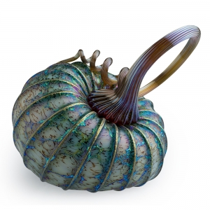 Jack Pine Studio: Small Tilt Pumpkin, Metallic Green