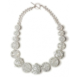 Alicia Niles: Jazz Lentil Bead Necklace, White