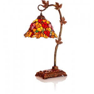 River of Goods: Red Floral Leaf Desk Lamp