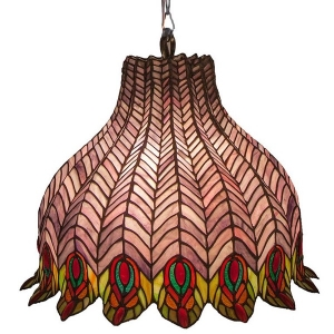 River of Goods: Peacock Feathers Hanging Lamp, Purple