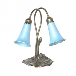 River of Goods: 2 Lily Favrile Lamp, Blue
