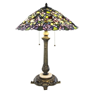 River of Goods: Purple Pansy Table Lamp