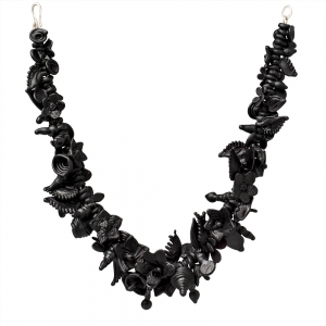 Nirit Dekel: Bouquet Necklace, Flat Black