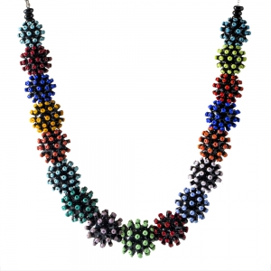 Nirit Dekel: Shells Necklace, Black & Multi