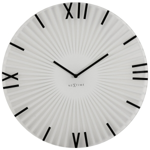 Nextime: White Sticks Clock