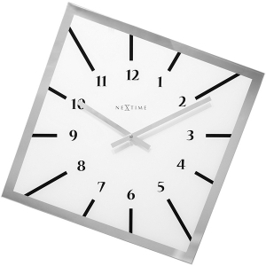 Nextime: White Off-Balance Clock