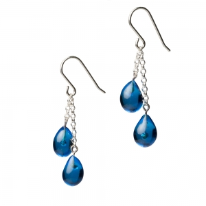Alicia Niles: Droplet Earrings, Turquoise