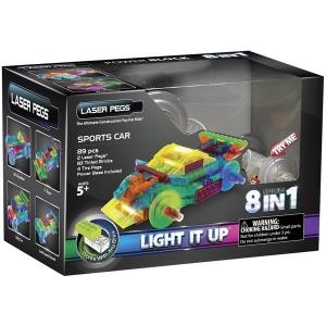 Laser Pegs: 8 in 1 Sports Car Kit