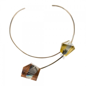 Pavel Novak: Choker with Two Glass Pieces