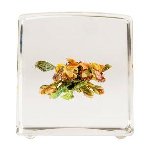 Paul J. Stankard: Orchid Cube