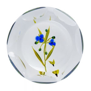 Paul J. Stankard: Spiderwort Paperweight