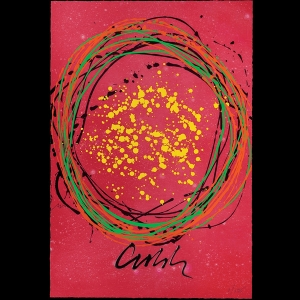 Chihuly Workshop: Round About Red, Framed
