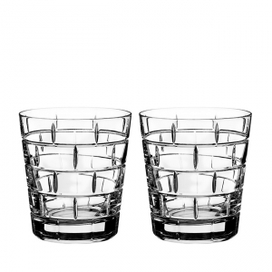 Rogaska: Quoin Double Old Fashioned Glasses, Set of 2