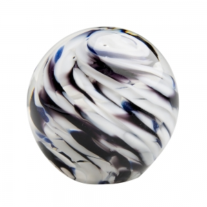 Hands on Glass: Small Paperweight, Black & White